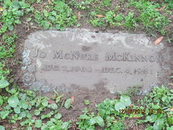 Jo <I>McNure</I> McKinnon