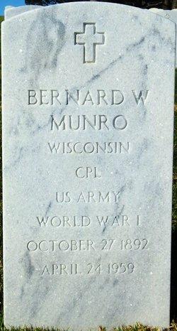 Bernard W Munro