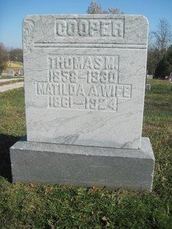 Matilda A <I>Shields</I> Cooper