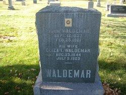 """Elizabeth """"Eliza"""" <I>Erickson</I> Waldemar"""