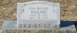 Ona Orzell <I>Boone</I> Ballard