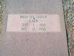 Rosa Lee <I>Sadler</I> Cain
