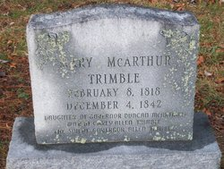 Mary <I>McArthur</I> Trimble