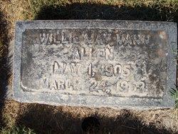 Willie May <I>Vann</I> Allen