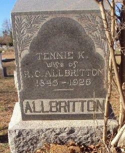 "Tennessee K ""Tennie"" <I>Massengill</I> Albritton"