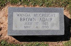 Wanda Brown <I>McCreight</I> Adair