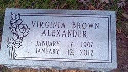 Virginia <I>Alexander</I> Alexander