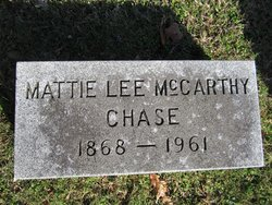 Mattie Lee <I>McCarthy</I> Chase