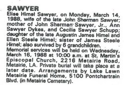 Elise Steele <I>Himel</I> Sawyer