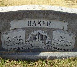 Minnie Alice <I>Liverett</I> Baker
