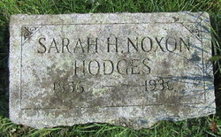 Sarah H. <I>Noxon</I> Hodges