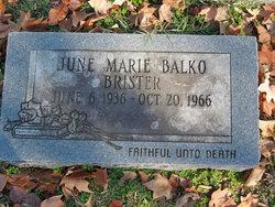 June Marie <I>Balko</I> Brister