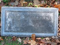 Annie <I>Warren</I> Maxwell