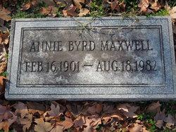 Annie <I>Byrd</I> Maxwell
