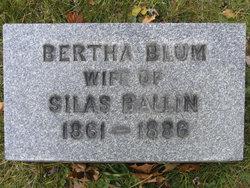 Bertha <I>Blum</I> Ballin