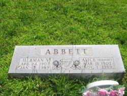 Alice <I>Nixdorf</I> Abbett