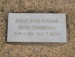Annie Kate <I>Folmar</I> Cummings