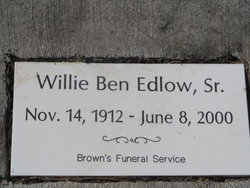 Willie Ben Edlow, Sr.