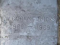 W. Captain Hicks