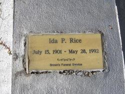 Ida P. Rice