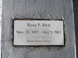 Rosa P. Rice