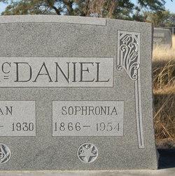 Sophronia Ann <I>Whitley</I> McDaniel