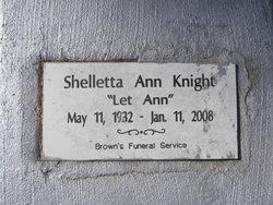 """Shelletta Ann """"Let Ann"""" Knight"""