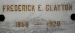 Frederick E Clayton