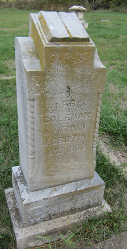 Carrie <I>Coleman</I> Griffin