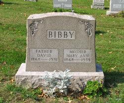 Mary Ann <I>Gibson</I> Bibby