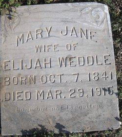 Mary Jane <I>Stigleman</I> Weddle
