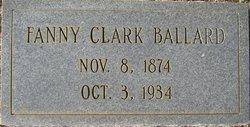 Fanny <I>Clark</I> Ballard