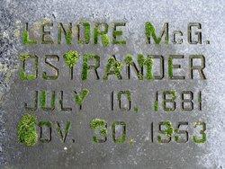 Lenore Katherine <I>McGrath</I> Ostrander