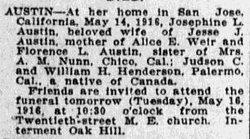 Josephine L. <I>Henderson</I> Austin