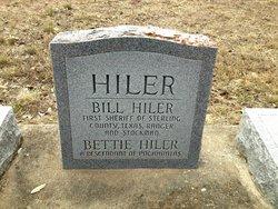 """Elizabeth Tina """"Bettie"""" <I>Slaughter</I> Hiler"""