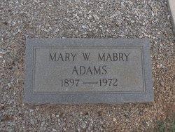 Mary Ward <I>Mabry</I> Adams