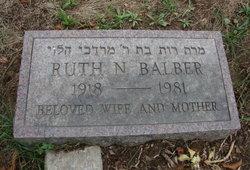 Ruth N Balber