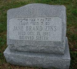Jane <I>Brand</I> Zins