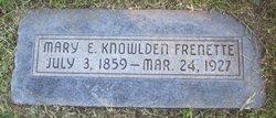Mary Ann Emma <I>Knowlden</I> Frenette