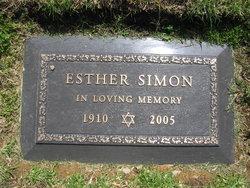 Esther <I>Handler</I> Simon