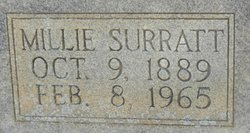 Millie <I>Surratt</I> Benton