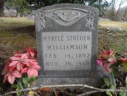 Myrtle <I>Strider</I> Williamson