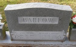 Martha Carolina <I>Earp</I> Barlow