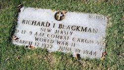 2LT Richard I Blackman