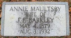 Annie <I>Maultsby</I> Barkley