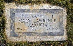 Sr Mary Lawrence Zakucia