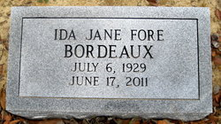 Ida Jane <I>Fore</I> Bordeaux