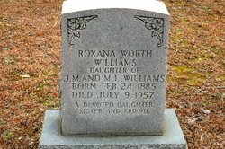 Roxana <I>Worth</I> Williams