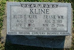 Ruth Evelyn <I>Kirk</I> Kline