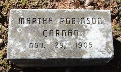 Martha <I>Robinson</I> Carnan